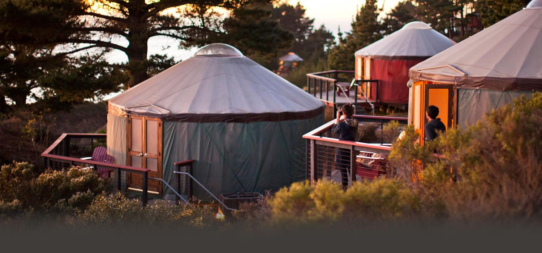 Treebones Resort Located In Big Sur California Has balcony and outdoor dining area. www treebonesresort com
